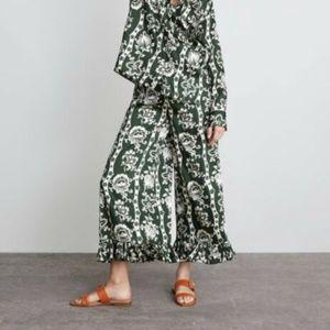 Zara Ruffle Wide Leg Pants